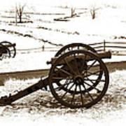 Artillery Positions - Toned Art Print