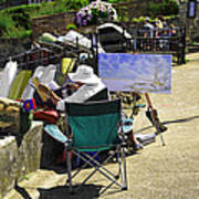 Artist At Work In Seaview - Isle Of Wight Art Print