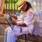 Artist At Work - Painting  Art Print