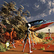 Artist Concept Of The Roswell Incident Art Print