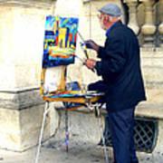 Artist In Paris Art Print