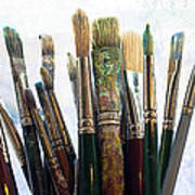 Artist Paintbrushes Art Print