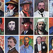 Artist Portraits Mosaic Art Print by Tom Roderick