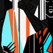 Artistic Fashion Colorful Illustration Art Print