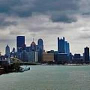 Artistic Pittsburgh Skyline Art Print