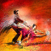 Artistic Roller Skating 02 Art Print