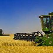 Artists Choice Two Combine Harvesters Art Print