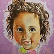Artist's Youngest Daughter Art Print by Marwan  Khayat