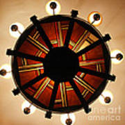 Arts And Crafts Chandelier At Summit Inn Art Print