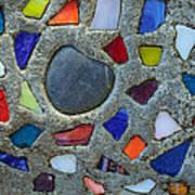 Artsy Glass Chip Sidewalk Art Print