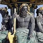 Artwork On The Public Fountains At Place De La Concorde In Paris France Art Print
