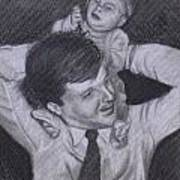 As A Father Carries His Son Art Print by Kathy Weidner
