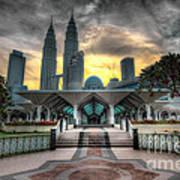 As Syakirin Mosque And Petronas Tower Art Print