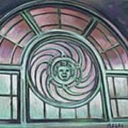 Asbury Park Carousel Window Art Print by Melinda Saminski