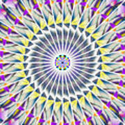 Ascending Eye Of Spirit Kaleidoscope Art Print by Derek Gedney
