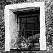 Ascona Window Bw Art Print