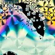 Ascorbic Acid Crystals In Polarized Light Art Print