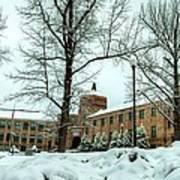 Asheville High School During Winter Art Print