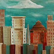 Asheville Skyline Art Print