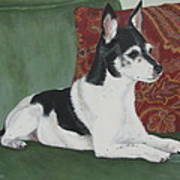 Ashley On Her Sofa Art Print by Sandra Chase