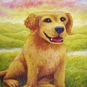 Ashly's Retriever   Art Print