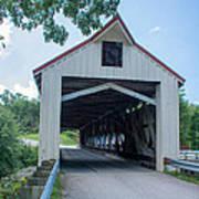 Ashtabula Collection - Mechanicsville Road Covered Bridge 7k0207 Art Print