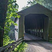 Ashtabula Collection - Middle Road Covered Bridge 7k01959 Art Print
