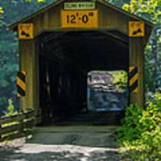 Ashtabula Collection - Olin's Covered Bridge 7k01978 Art Print