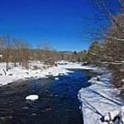 Ashuelot River In Winter Art Print