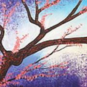 Asian Bloom Triptych 1 Art Print