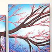 Asian Bloom Triptych Art Print