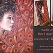 Asian Dream In Red Flowers 010809 Comp Art Print