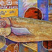 Asian Fish Market Art Print