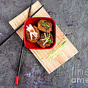 Asian Meatballs 1 Print by Jane Rix