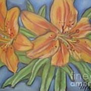 Asiatic Lilies Art Print