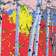 Aspensincolor Redorange Art Print