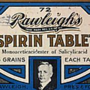 Aspirin 5 Grains Art Print