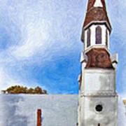 Aspiring Chapel Impasto Art Print