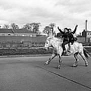 Aspiring Cowboys In Dublin 1961 Art Print
