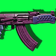 Assault Rifle Pop Art - 20130120 - V3 Art Print by Wingsdomain Art and Photography