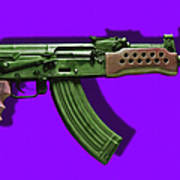 Assault Rifle Pop Art - 20130120 - V4 Art Print