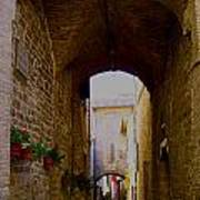 Assisi Walkway Art Print
