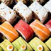 Assortment Of Sushi Art Print