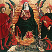 Assumption Of Mary With Sts Minias And Julian Art Print