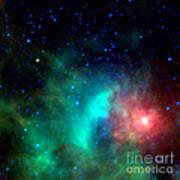Asteroid Zips By Orion Nebula Art Print