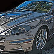 Aston Martin Db S Coupe 3/4 Front View Art Print