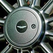Aston Martin Db7 Wheel Emblem Art Print