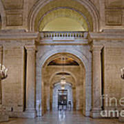 Astor Hall At The New York Public Library Art Print