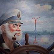 Astounding Sea Captain Original Or Map Captain 1987 Art Print