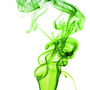 Astract Smoke Swirl In Green Art Print